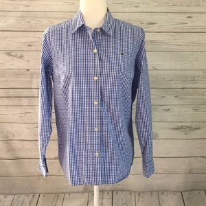 Vineyard Vines Blue Gingham Long Sleeve Shirt 8